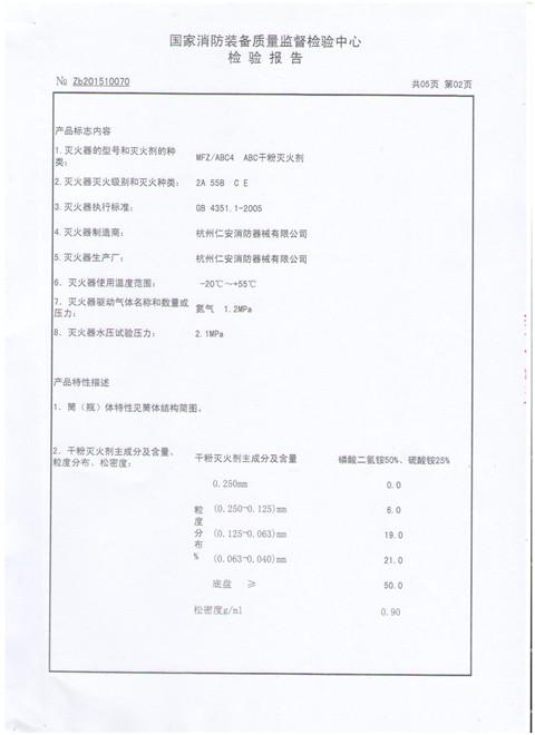 ABC4KG CCC CERTIFICATION AND INSPECTION REPORT-HANGZHOU REN\'AN FIRE ...